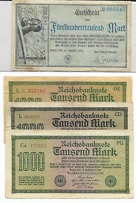 1922-1944 German Currency Collection 12 Notes - Original! Nice set!
