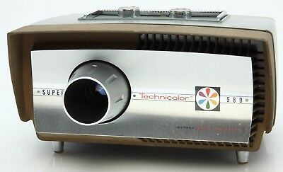 Technicolor Super 580 Movie Projector vintage,Super 8, needs cartridge  #365409