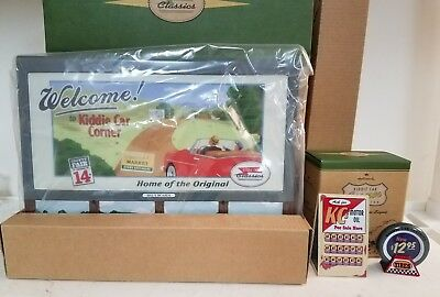 KC's Garage Billboard Signs Kiddie pedal Car Corner Classics Hallmark mint inbox