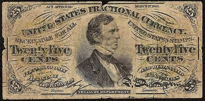 25 Cent Fractional Currency 1864 1869 United States Fessenden Note Paper Money