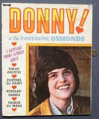 VINTAGE 1973 The Osmond Brothers Photo-Activity Album-Donny-Jimmy & Marie too!
