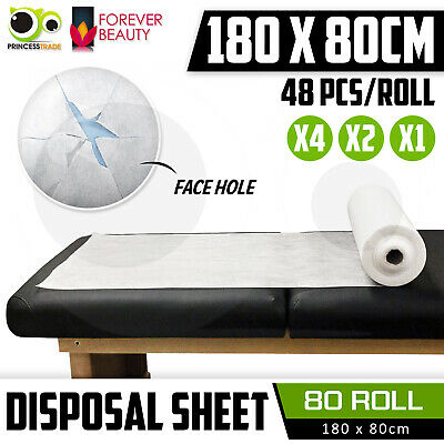 Disposable Massage Table Bed Cover Sheet Beauty Waxing 180cm x 80cm 48Pcs Roll