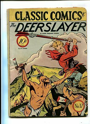 Classic Comics #17 The Deer Slayer VINTAGE Golden Age 10c James Cooper 1st Print