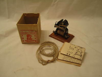 Early 1900's Miniature Open Motor NEAR MINT with Partial Box