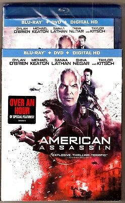 American Assassin Blu-ray + DVD + Digital HD Michael Keaton BRAND NEW