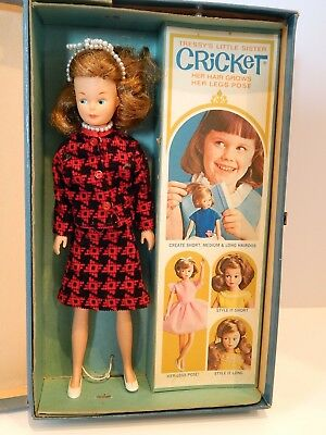 American Character Tressy Little Sister Cricket Doll with Clothes/Case Tressy's