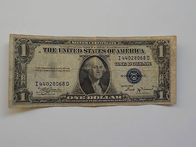 Silver Certificate 1935 1 Dollar Bill Paper Money Currency One United States VTG