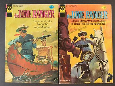 CLAYTON MOORE (1914-1999) AUTOGRAPH 1970s LONE RANGER COMIC BOOK #19 +Other BOOK