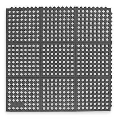 3 ft. Interlocking Drainage Mat, Black ,Notrax, 662S0033BL