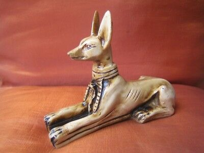 * Amazing Unique Antique Egyptian Dog Statue of Ancient ANUBIS God of the Dead *