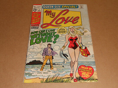 My Love Queen-Size Special 1 Marvel Romance 1971 Excellent Shape! John Romita!