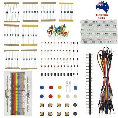 Breadboard development set power resistant LED cable Buzzer Capacitor Transistor