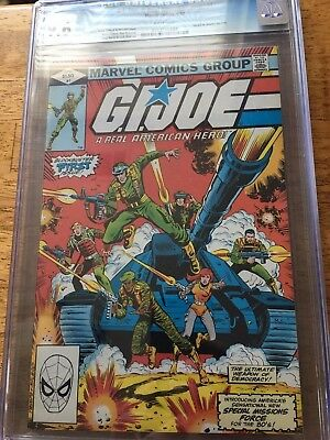1982 Marvel G.I. Joe A Real American Hero #1 CGC 9.6 White Pages 1st Snake Eyes