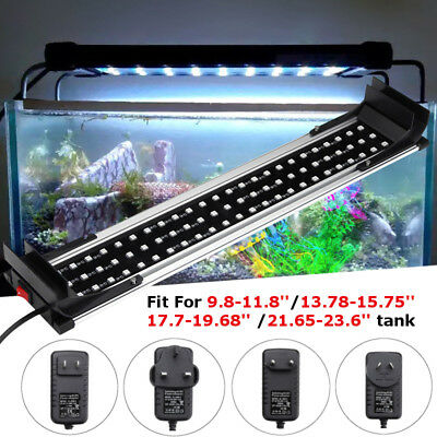 LED Dimmable Color Changing RGB Aquarium Fish Tank Light Lamp Hood + Remote