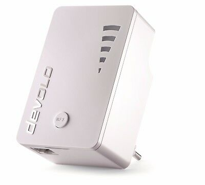 devolo WiFi Repeater ac (1.200 Mbit/s, 1xLAN, WPS, WLAN Repeater, Extender