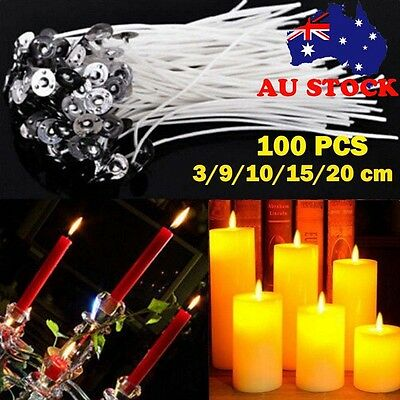 500pcs Candle Wicks Low Smoke Pre Waxed Wick with Tabs Sustainers Cotton Core AU