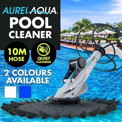 NEW AURELAQUA Swimming Pool Cleaner Wall Floor Climb Automatic Vacuum 10m Hose