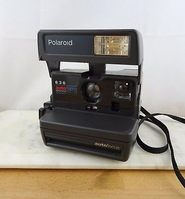 Vintage POLAROID 636 Auto Focus Instant Film Camera WORKING Close Up