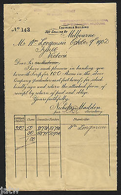 Share Scrip - Mining. 1902 Crown Lyell Copper Co - Confirmation of Purchase