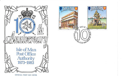 ISLE of MAN 1983 Post Office Anniversary set FDC