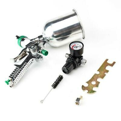 HVLP Spray Gun 2.5mm Auto Paint Gravity Feed Gauge Metal Flake Primer Nozzle
