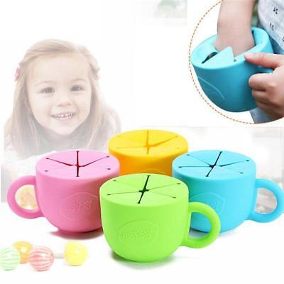 Children Kids Food Snack Keeper Holder Pot Cup Container Bowl Non Spill LC