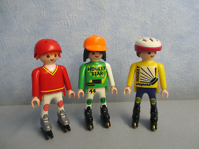 3 Figuren Männer Kids Teenies mit Inliner Playmobil Family Fun 2970