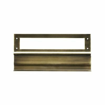 "Deltana MS0030 Antique Brass 13"" x 3-1/6"" Solid Brass Heavy Duty Mail Slot"