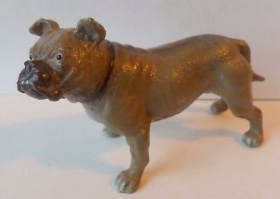 "Vintage Cold Painted Spelter Good Model Of A Bulldog - 3.1/2"" Long"