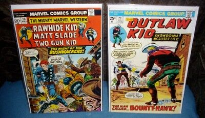 2 DC Mighty Marvel Western Comic #30 1974 & Outlaw Kid #29 very nice