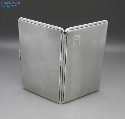 FINE QUALITY HEAVY SOLID STERLING SILVER CIGARETTE CASE, WTT, 211g, BIRM 1951