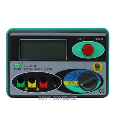 NEW Digital Earth Ground Insulation Resistance Tester Meter High-Quality