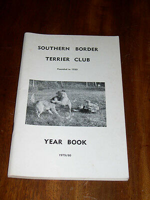 "Rare Dog Book ""the Southern Border Terrier Club Yearbook 1979-1980"" Illustrated"