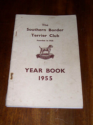 "Rare Dog Book ""the Southern Border Terrier Club Yearbook 1955"" Illustrated"