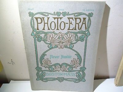 Antique Photo-Era Magazine May 1906 Cover Story Flower Number Photographic