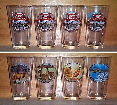 Miller High Life Friends Of Field 4 Beer Pint Glasses