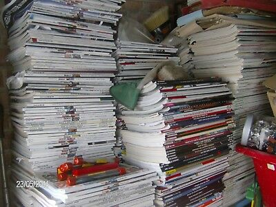 APPROX.100  CAR -  M0T0RCYCLE - COMMERCIAL- CAMPER  MAGAZINES FROM 1930s TO DATE