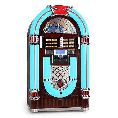 jukebox rock ola plattenspieler bluetooth radiotuner aux. Black Bedroom Furniture Sets. Home Design Ideas