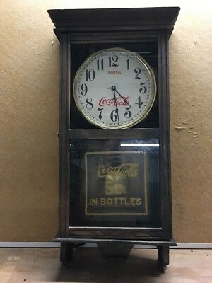 Antique? Coca Cola Wm Gilbert Clock Co. 39x19""