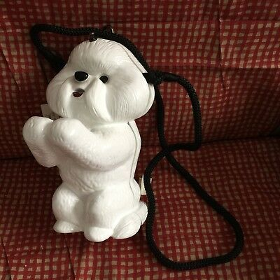 Bichon Frise Hand carved hand painted and signed by Timmy Woods Beverly Hills