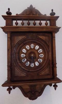 french carved striking wall clock