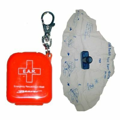 KEY RING CPR Resus Mask Safety Shield Protection SAFETY for Dive Surf Kayak Walk