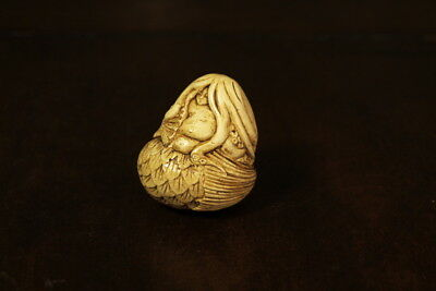 Netsuke style Mermaid With Octopus Hair