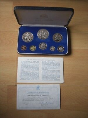 Coinage of Barbados Proof Set 1974 - Franklin Mint - in OVP + Zertifikat