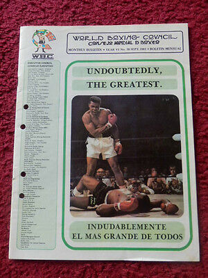 World Boxing Council Monthly Bulletin 1983