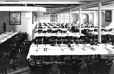 """Photo: 5"""" x 7"""": RMS Titanic Interior: The 3rd Class Dining Room Down On F-Deck"""