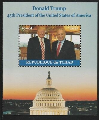 Chad 6762 - 2017  DONALD TRUMP #2 perf s/sheet  unmounted mint