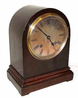 Antique Mahogany Bracket Mantel Clock : Strikes on Hour & Half Past