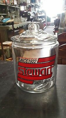STEWART  Candy  Company since 1922   Collector Series 2003  Glass Counter JAR