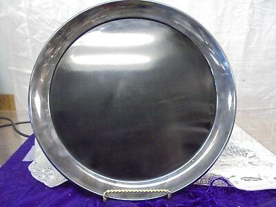 Vintage Gorham Silverplate Cocktail Tray with Black Laminate YC842